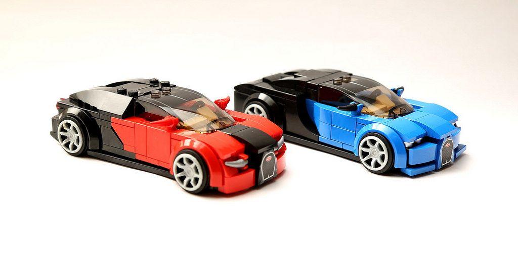 two cars lego bugatti cars custom lego lego. Black Bedroom Furniture Sets. Home Design Ideas