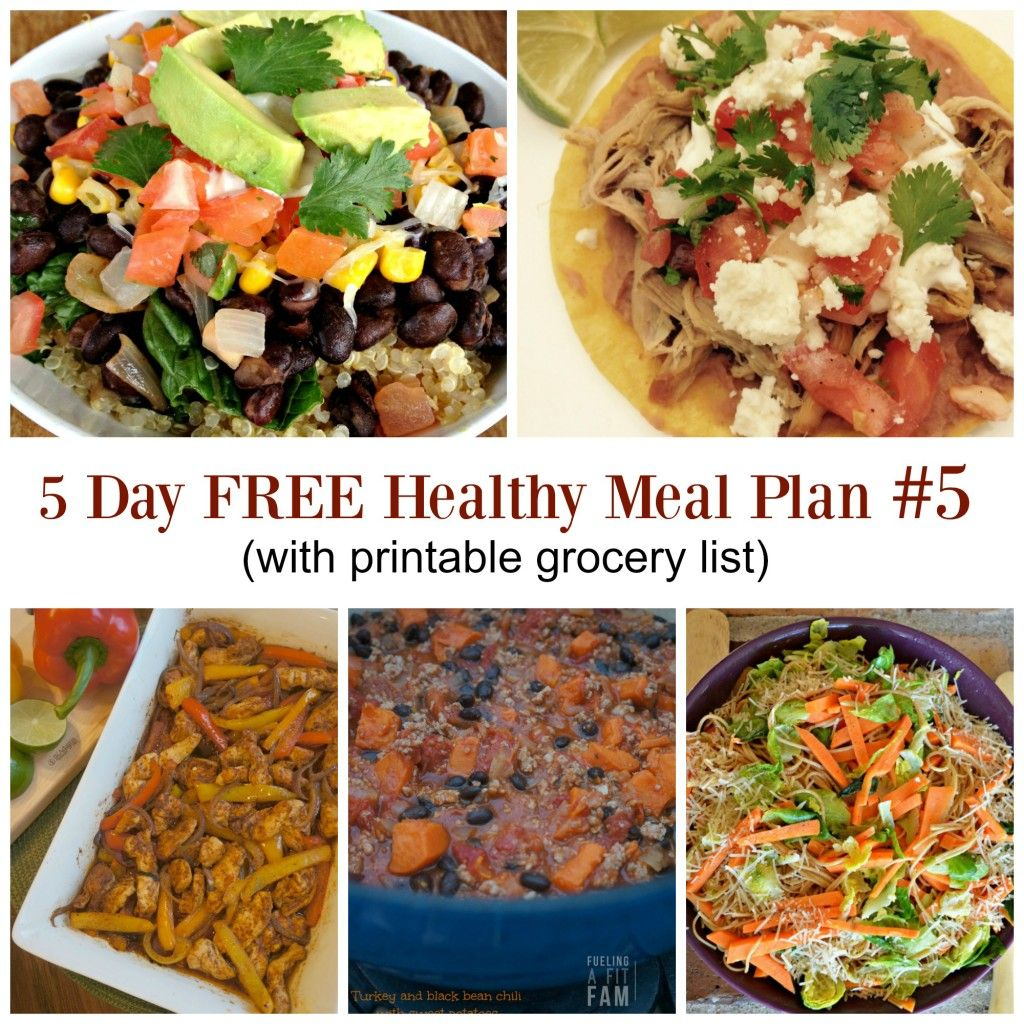 5 Day Meal Plan 5