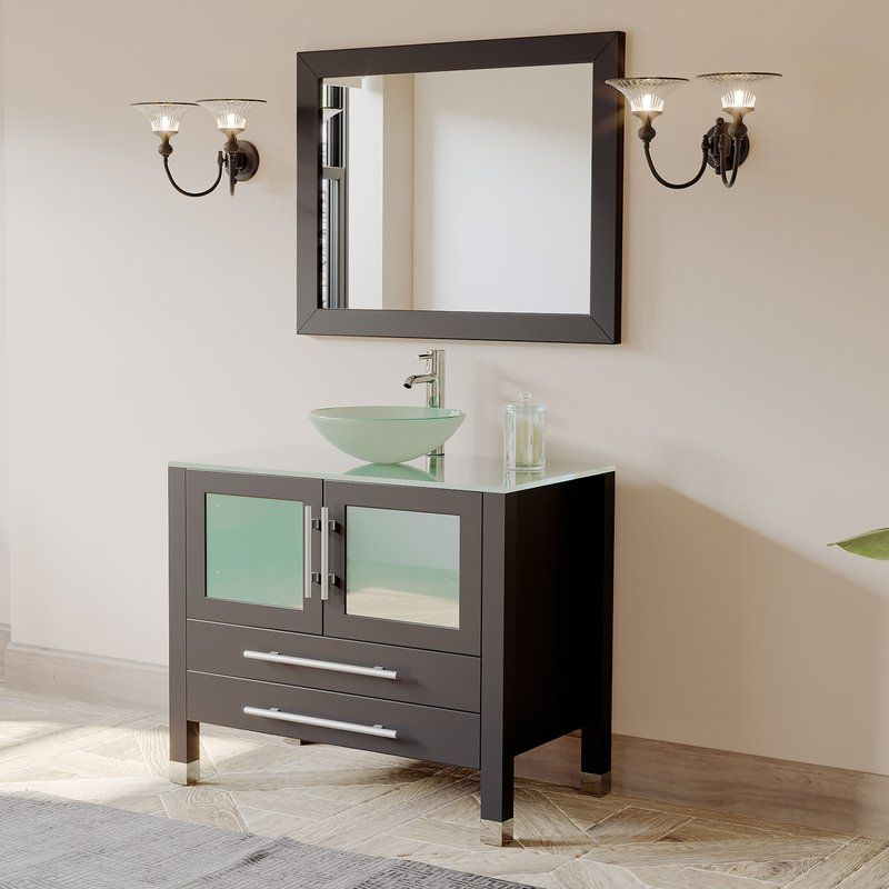 amethyst 36 single bathroom vanity set with mirror bathroom rh pinterest com