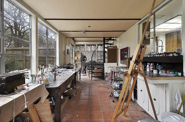 Art studio glassed porch loft austin texas home for lease sale studio pinterest Home art studio interior design ideas