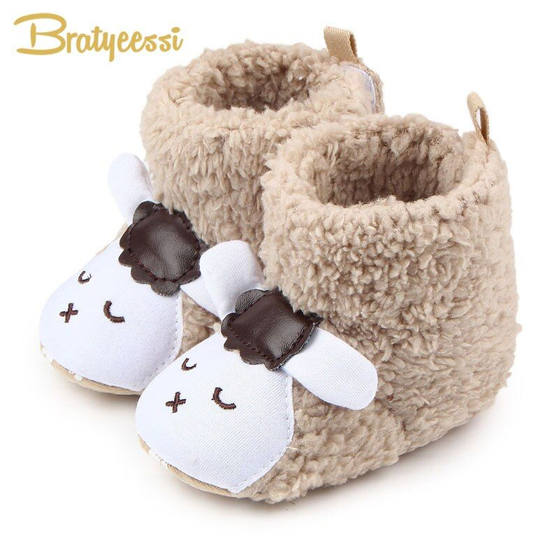 Baby Girls Soft Plush Boots Toddler Newborn Winter Warm Crib Sole Shoes ботинки