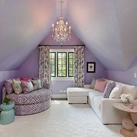 Cool Bedrooms For Teen Girls/attic room Design Ideas