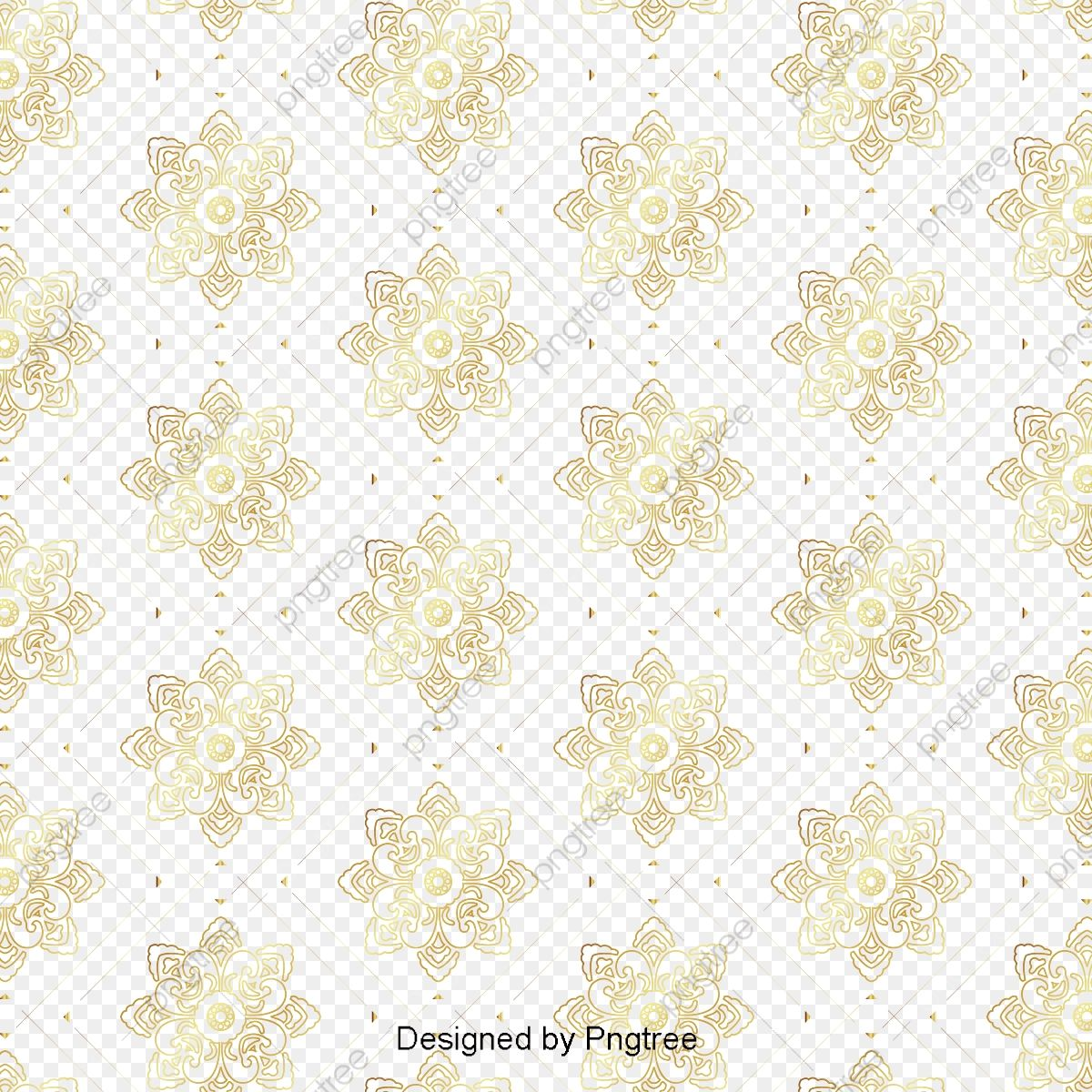 Golden Thai Pattern Background Material Golden Thailand Pattern Png And Vector With Transparent Background For Free Download Thai Pattern Background Patterns Transparent Background