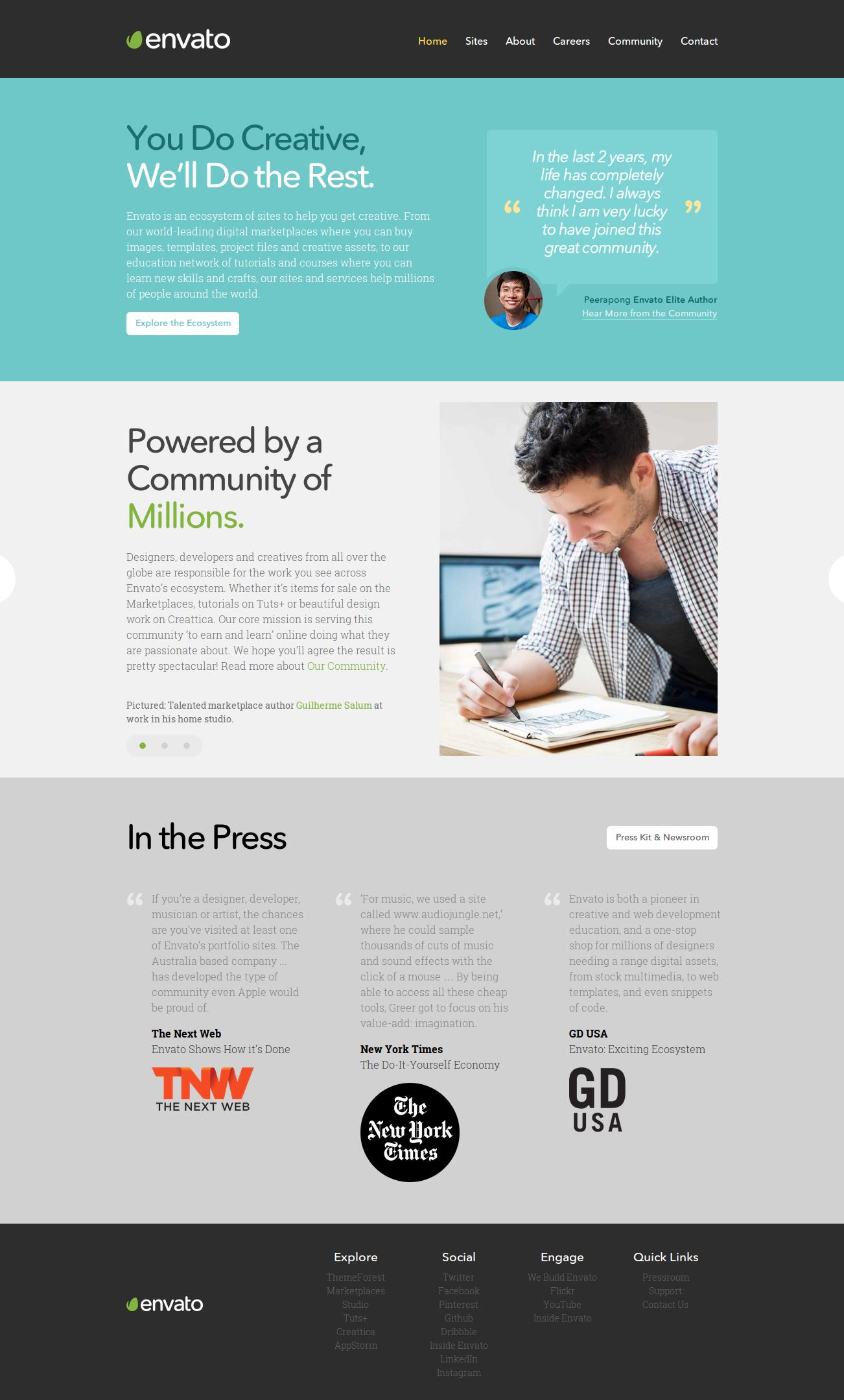 Envato Awesome Screenshot Envato Well Designed Websites Website Design Wordpress