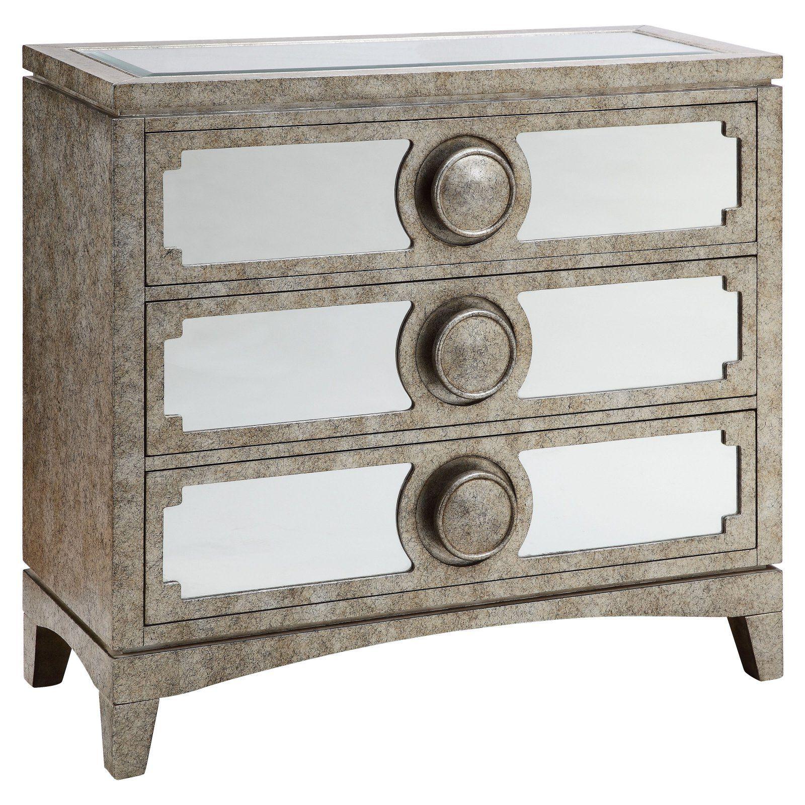 Stein World 3 Door Mirrored Chest Creamy Silver Mirrored Chest Stein World Shabby Chic Furniture