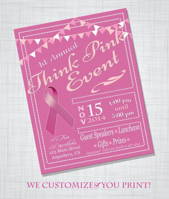 Customizable Breast Cancer Awareness Fundraiser Event Flyer Poster