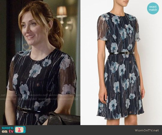 Maura's floral watercolor print short sleeve dress on Rizzoli and Isles. Outfit Details: https://wornontv.net/58339/ #RizzoliandIsles Buy it here: http://wornon.tv/36657