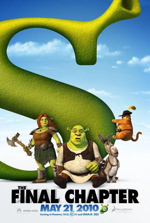 Shrek Forever After Shrek Animated Movie Posters