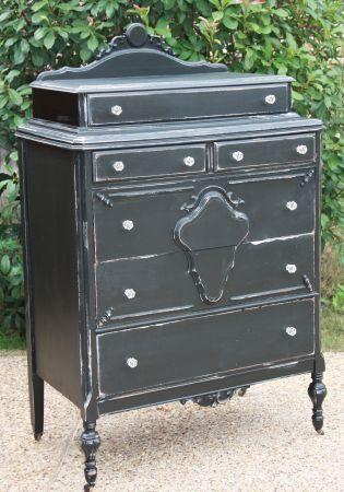 Refinished Antique Dresser | Refinished antique chest / dresser | Crafting - Chalk Paint | Pintere ...