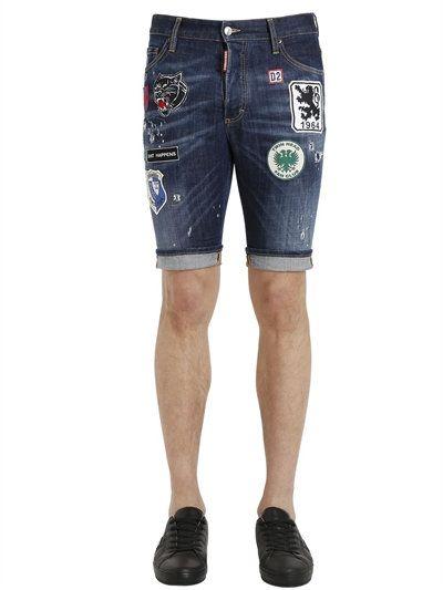 patch denim shorts - Blue Dsquared2 Wholesale Price Cheap Online Buy Cheap 100% Guaranteed kZptyl32