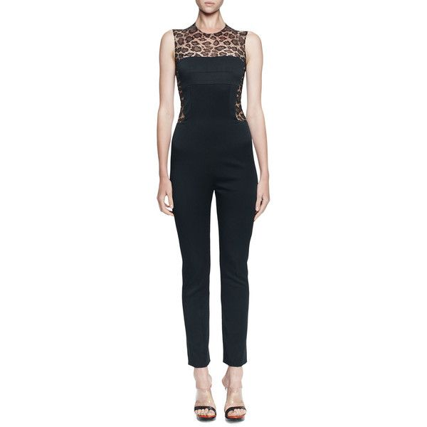 a031e1a57 Alexander McQueen Leopard-Print/Solid Fitted Jumpsuit | Style ...
