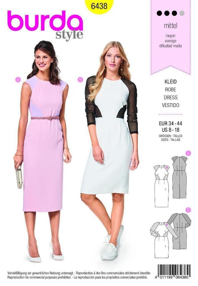 Details zu Burda Nähmuster Kleid 8-18 - 6438