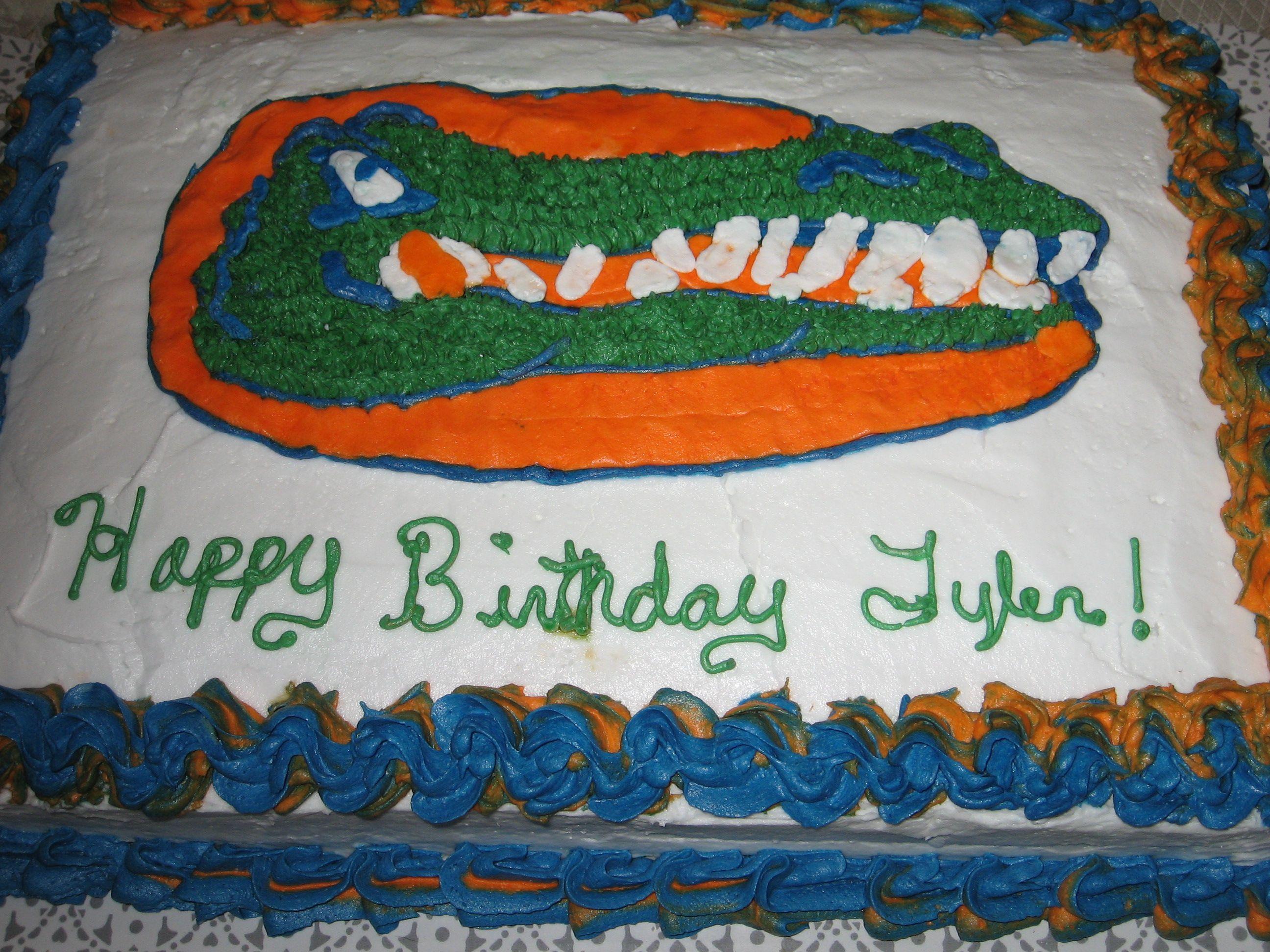 Florida Gator Birthday Cake Bakers Dozen Pinterest Cake