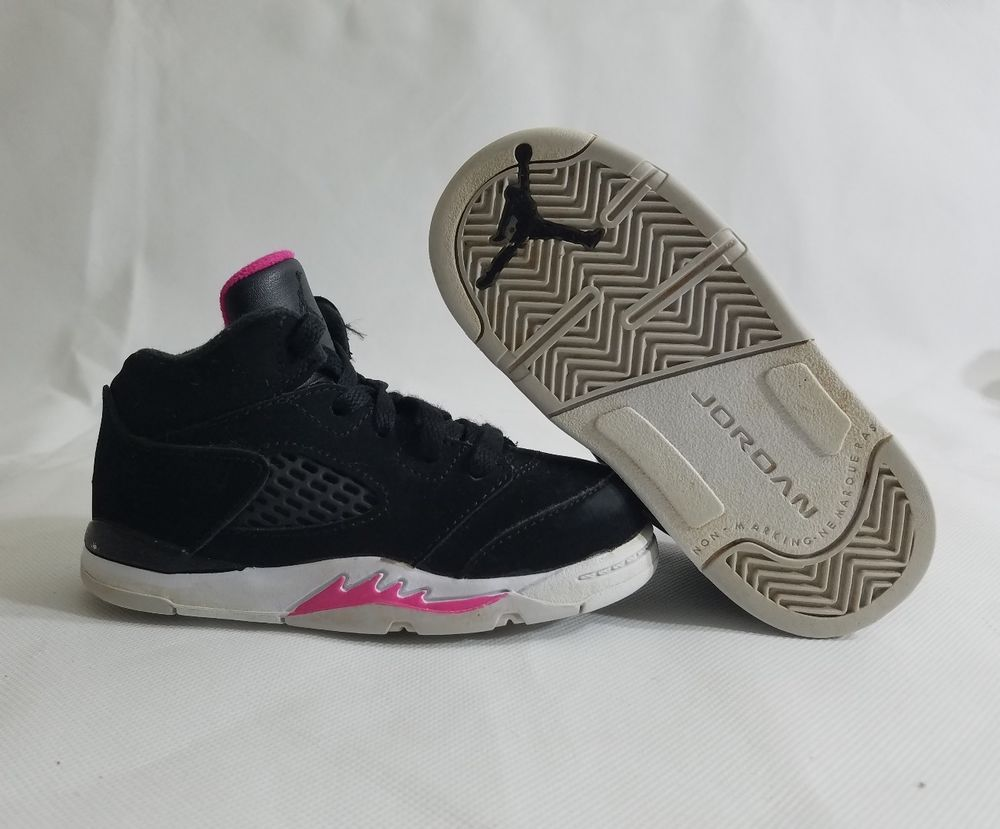 new arrival 45bee 78c8d Nike Jordan 5 Retro GT TODDLER Black/Black-Deadly Pink-White ...