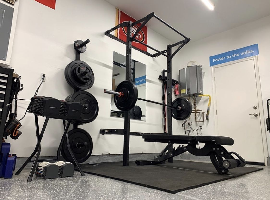 It S Go Time In The Garage Gym Small Spaces Garage Gym Home Gym