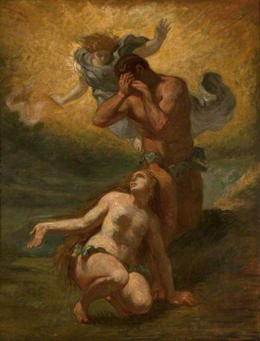 The Expulsion Of Adam And Eve From Paradise By Eugene Delacroix