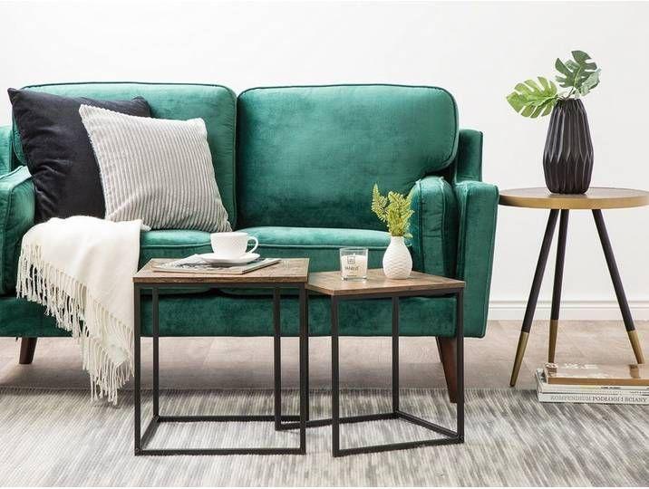 Beistelltisch 2er Set Vintage Schwarz Quadratisch Denny In 2020 Velvet Furniture Velvet Sofa Sofa