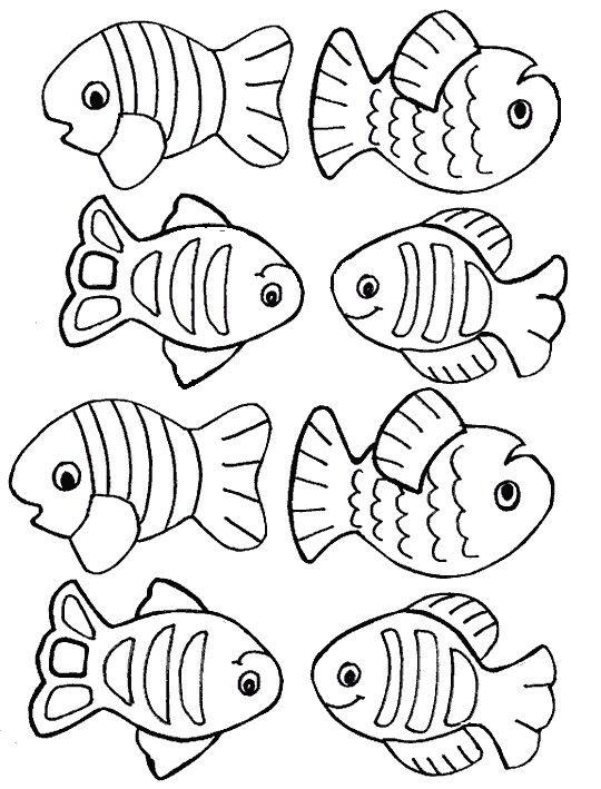 visjes kleurplaten vissen zomerknutsels
