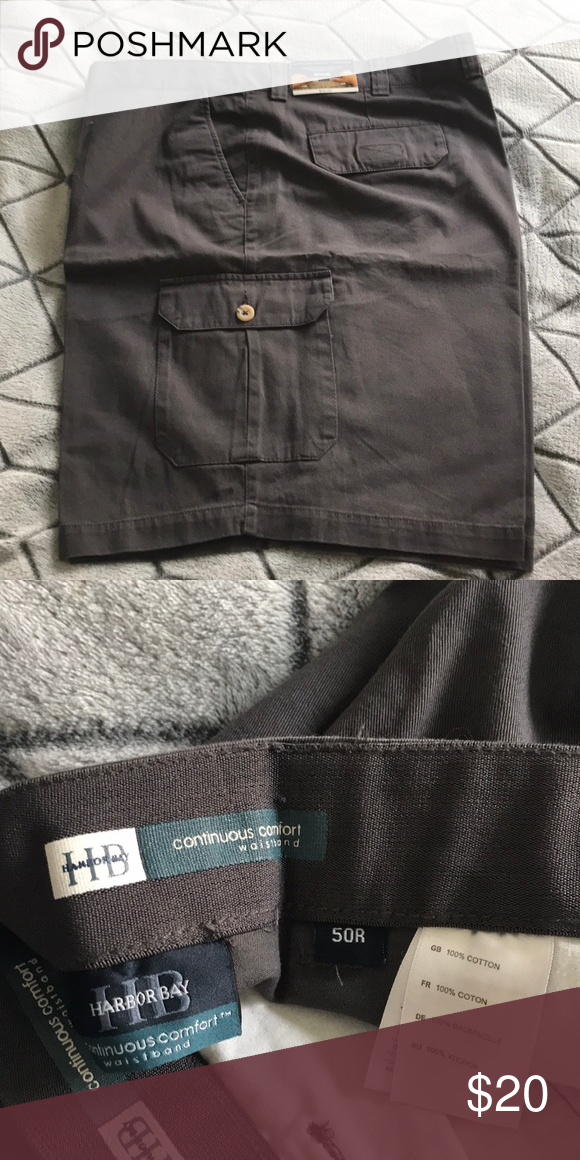 1a1772ff50 Men's big and tall cargo shorts Charcoal men's big and tall size 50 cargo  shorts Harbor Bay Shorts Cargo