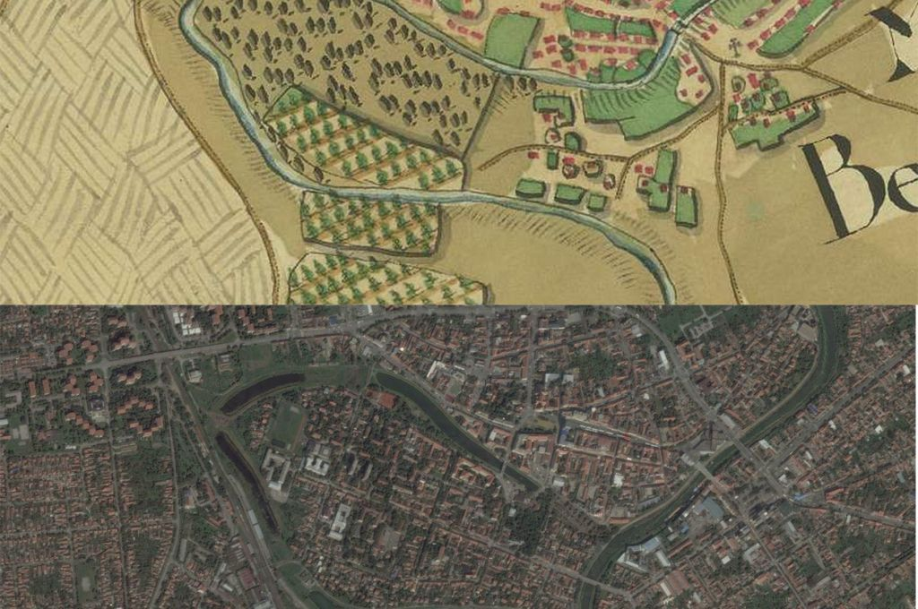Zrenjanin Little America Map Then1780s and Now2010s Maps
