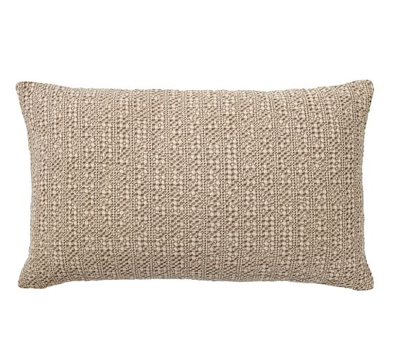 Honeycomb Lumbar Pillow Cover Driftwood Pottery Barn Lumbar