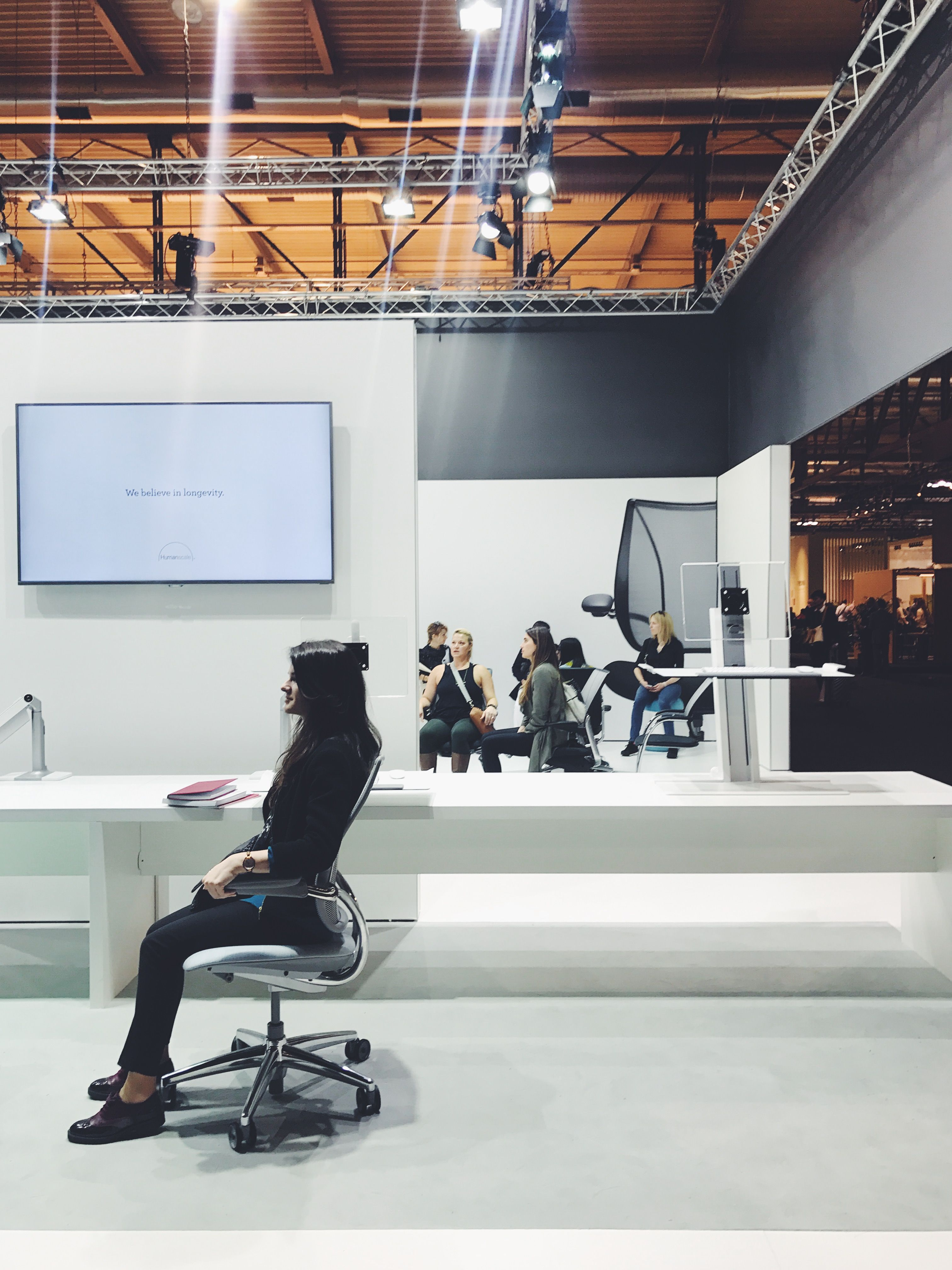 Humanscale s Salone del Mobile Milano 2017 booth during Milan