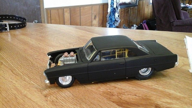 Gallery Pictures 1966 Chevy Nova Pro Street Plastic Model Car