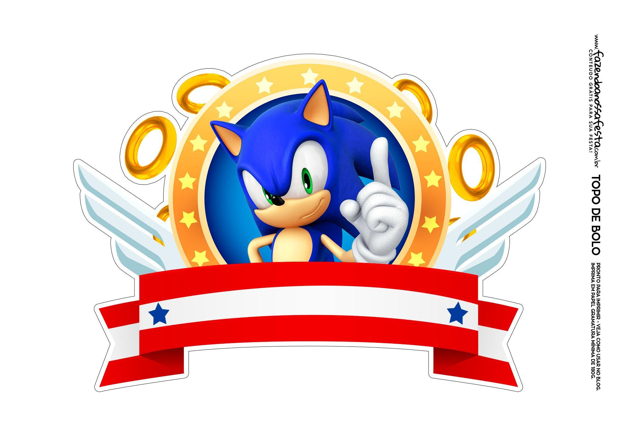 Topo De Bolo Sonic 3 Fazendo A Nossa Festa Festas De Aniversario Do Sonic Bolo De Aniversario Sonic Bolo Sonic
