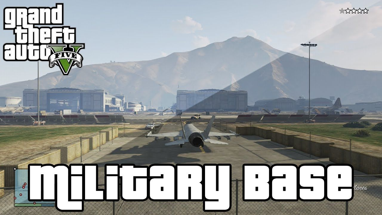 Gta 5 Tips Tricks Best Way To Break Into The Military Base Fly Fighter Jets Helicopters Military Base Fighter Jets Military