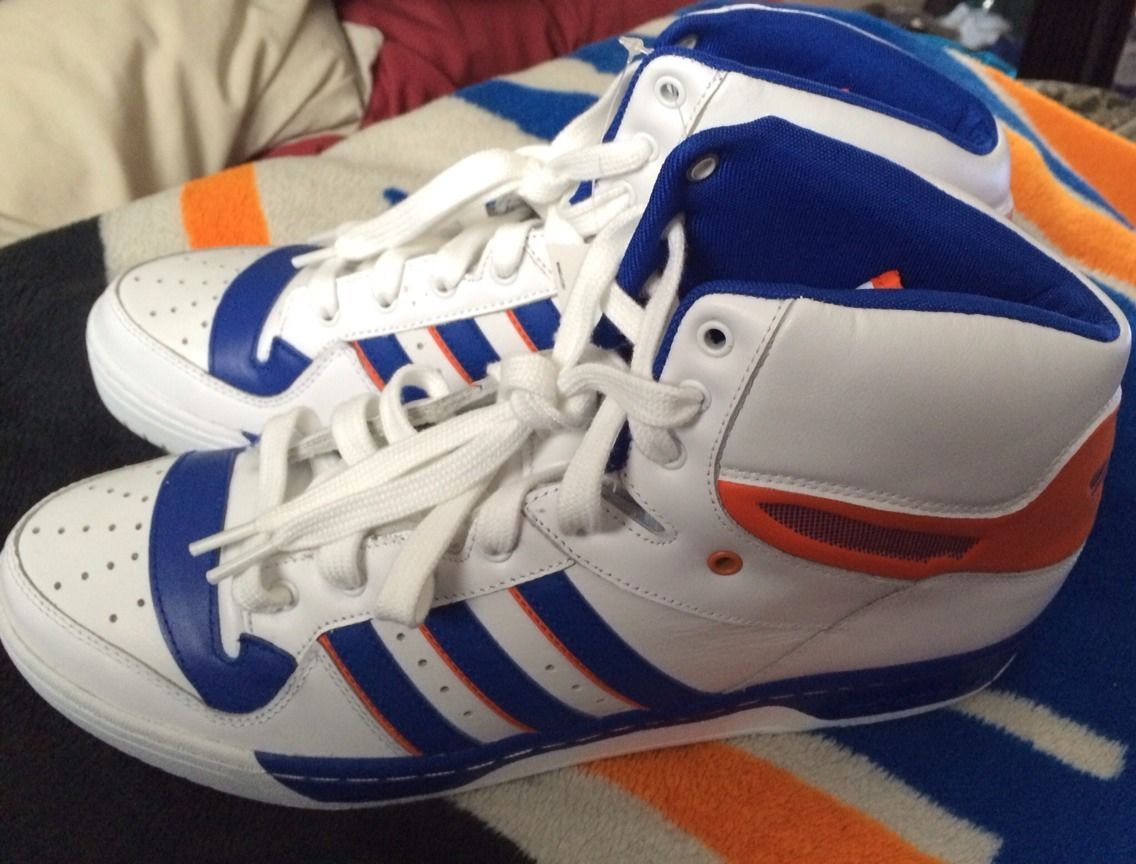 adidas atteggiamento ciao new york knicks patrick ewing basektaball scarpa