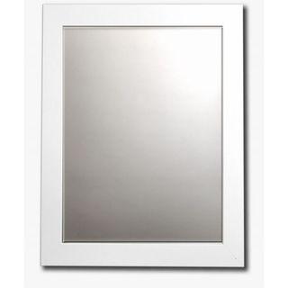 white satin framed beveled wall mirror white satin - White Framed Mirror
