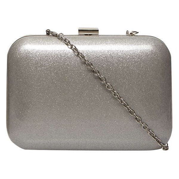Dorothy Perkins Silver Resin Box Clutch 17 Liked On Polyvore Featuring Bags