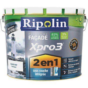 Peinture Façade 2en1 Xpro3 Ripolin Blanc 10 L Peinture