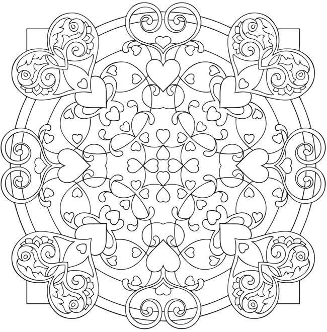 heart madanala coloring | Heart Mandalas Coloring Book | colouring ...