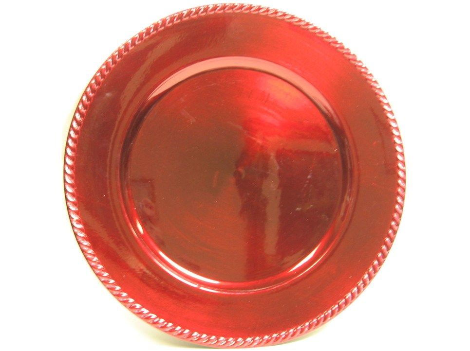 Red Plastic Plate Charger  sc 1 st  Pinterest & Red Plastic Plate Charger   Ladies Christmas brunch   Pinterest ...