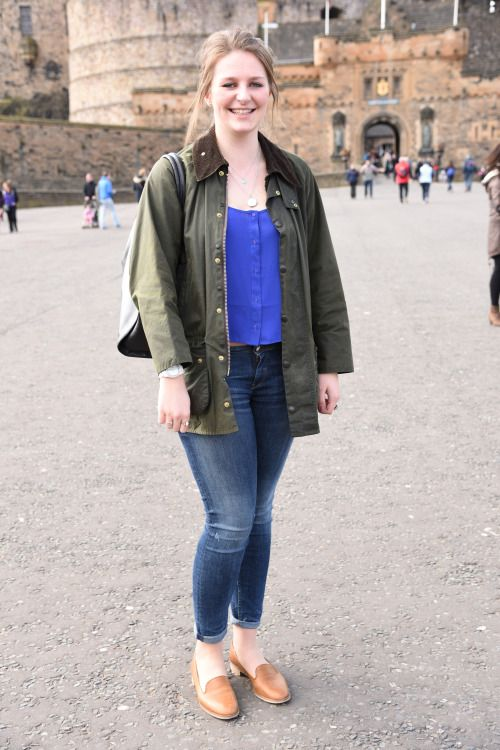 61d6a00991a Freya shows how to style a Barbour Classic Bedale jacket for a ...