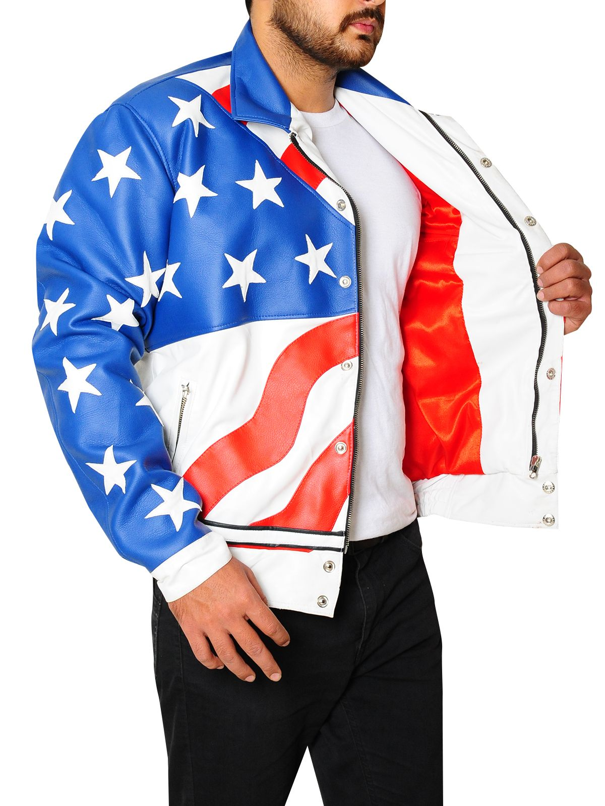 American Flag Faux Leather Jacket Men Jacket Mauvetree Faux Leather Jacket Men Leather Jacket Jackets