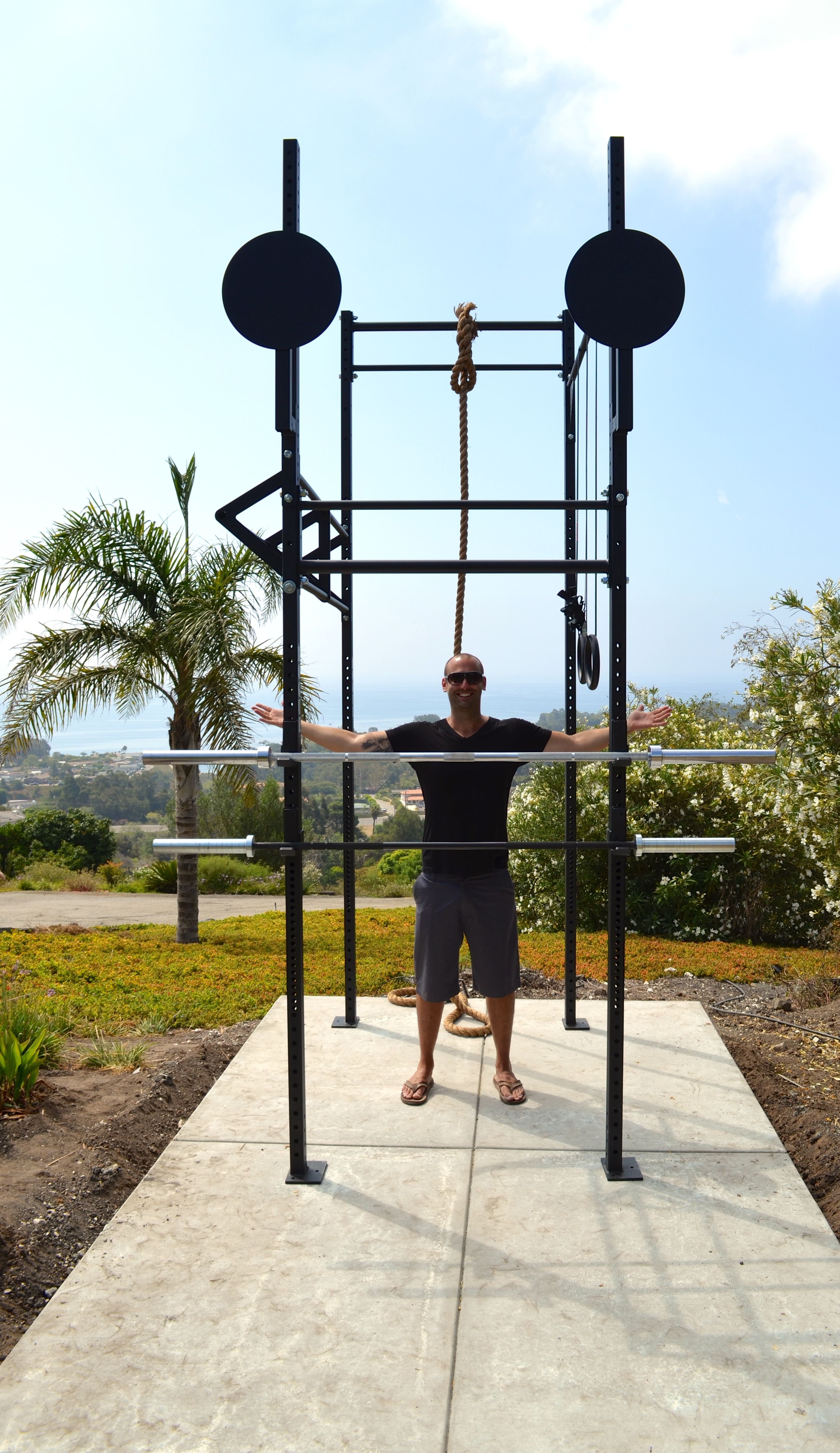 Something like this crossfit outdoor pinterest gym
