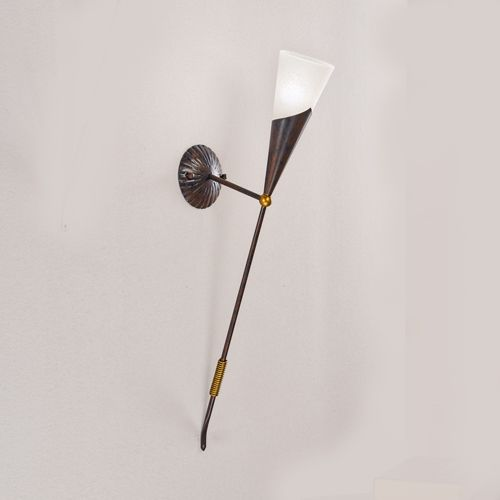 Elegant traditional style torch wall light with glass shade also elegant traditional style torch wall light with glass shade also available in ivory gold as well aloadofball Choice Image