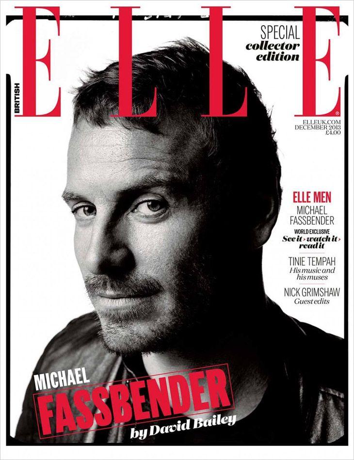 Michael Fassbender by David Bailey for ELLE UK
