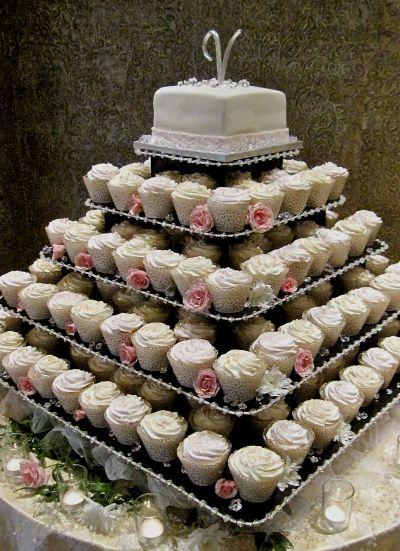 The Original Cupcake Tree Large Square Up To 300 Cupcakes Cupcake Tree Wedding Cakes Square Cupcakes
