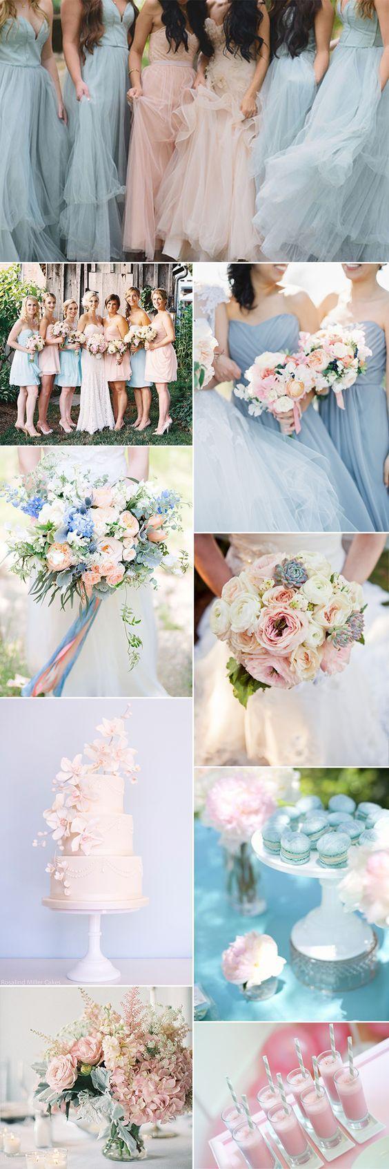 Pink u blue wedding ideas inspired by pantone rose quartz pantone