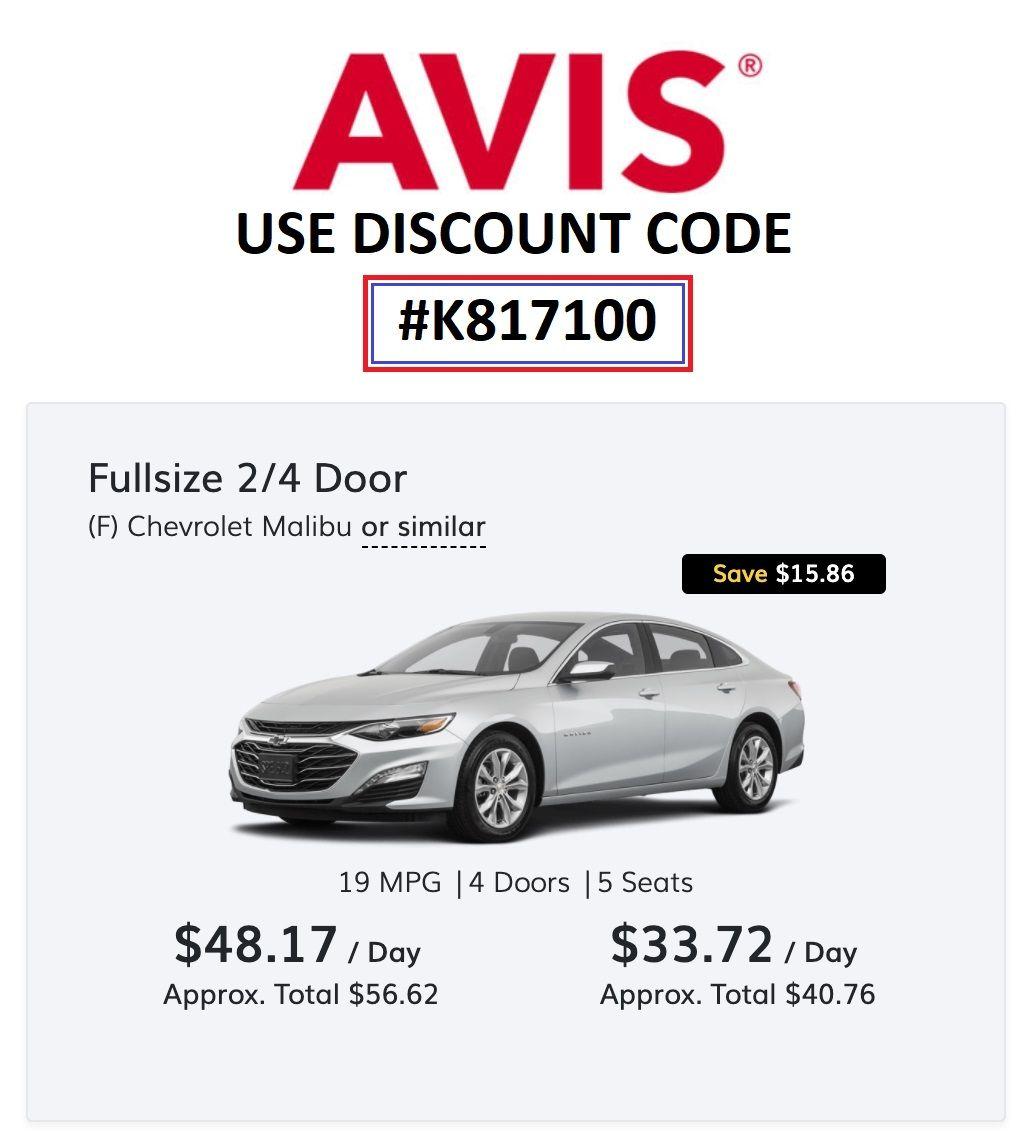 Avis Car Rental Online Coupon Code Car Rental Avis Car Rental Online Coupons Codes
