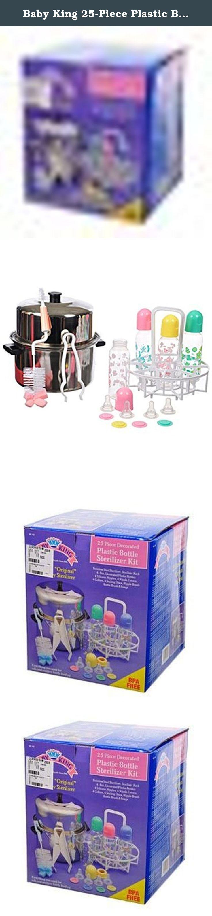 Baby King 25-Piece Plastic Bottle Sterilizer Kit