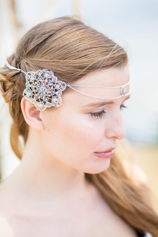 boho beach wedding ideas | wedding bridal hair accessories