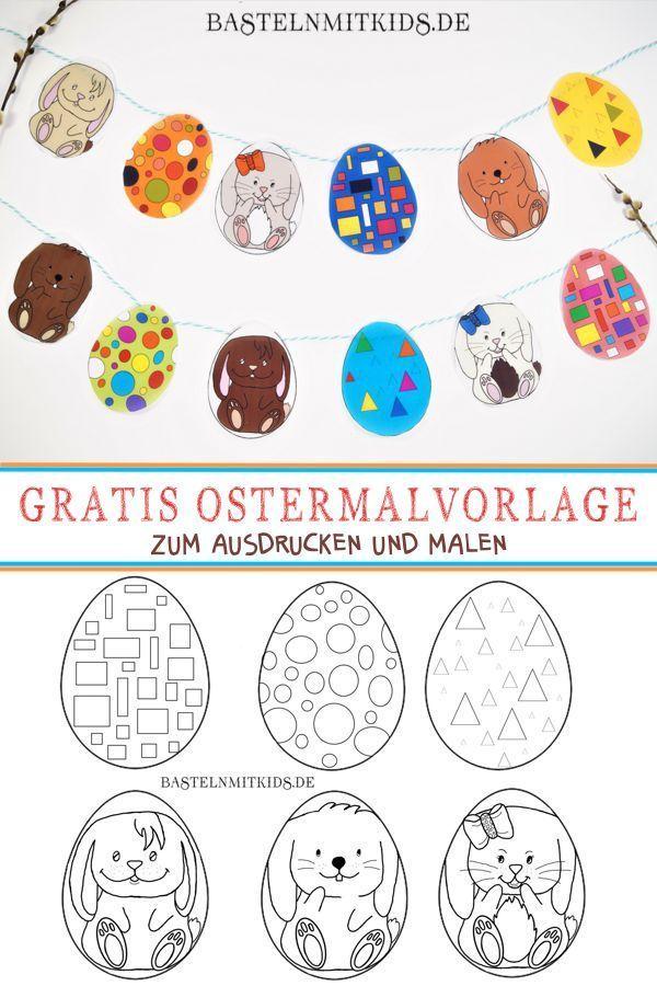 Oster Malvorlage Malvorlage Oster Streichen Osternest Basteln Osterei Vorlage Malvorlagen Ostern