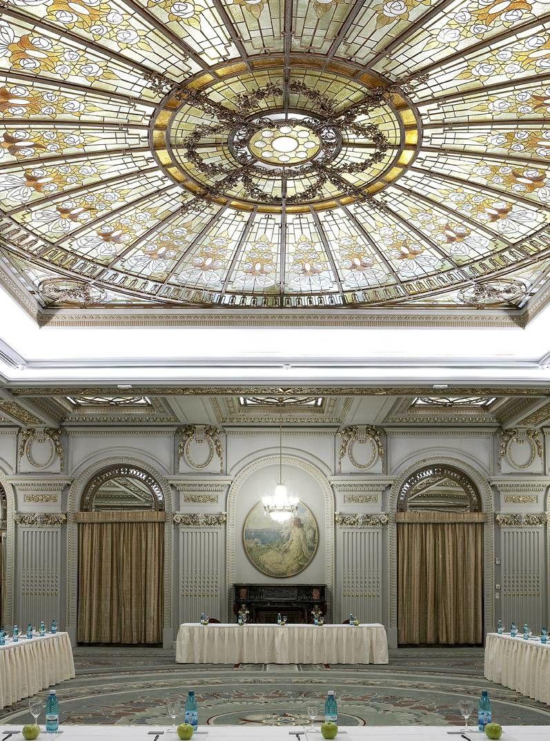 Le Diplomate Ballroom at Athenee Palace Hilton Bucharest, Romania, a UNESCO heritage monument