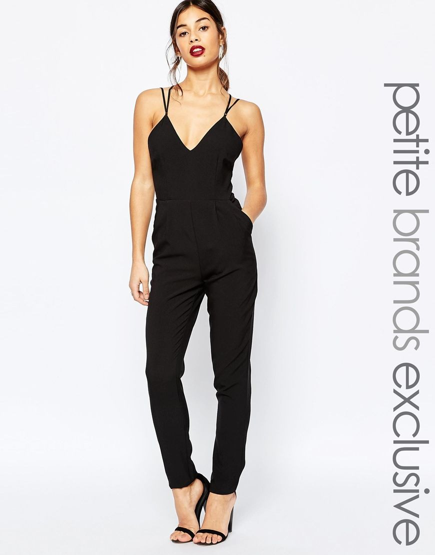0e6ab704dc True+Decadence+Petite+Strappy+Plunge+Front+Jumpsuit | CLOTHES ...