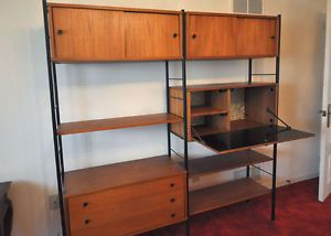 MID CENTURY TEAK AND METAL WALL UNIT CANADA - Google Search | Mid ...