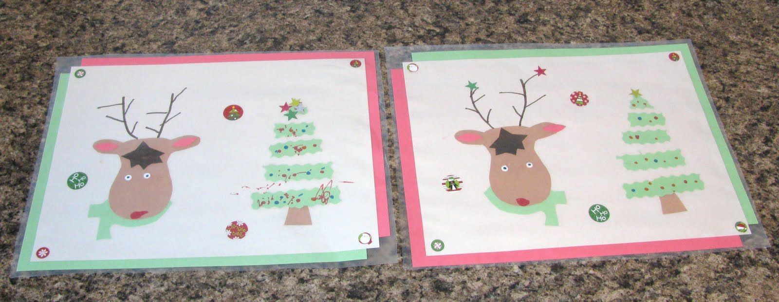 Holiday Placemat Craft With The Kids Christmas Placemats Christmas Crafts For Kids Placemats Kids